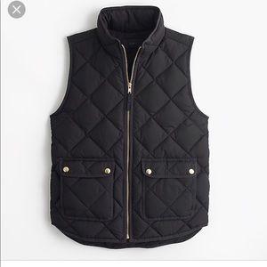 J. Crew Black Puffer Vest